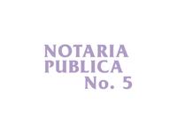 logo NOTARIA PUBLICA NO 5